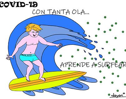 Dibujos relacionados con la Pandemia del COVID