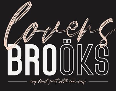 Lovers Brooks SVG Brush Font FREE Sans