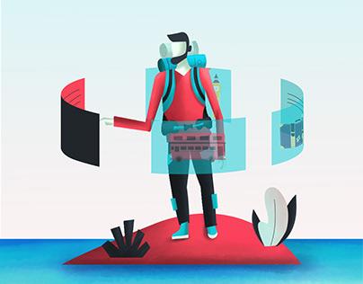 Traveler illustration