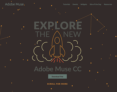 Adobe Muse Website Redesign, June 2014