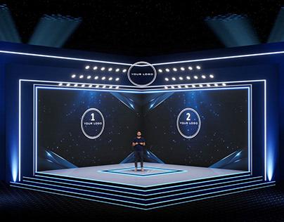 Virtual stage design -Isometric corporate