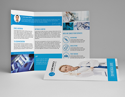 Medical A4 / Letter Trifold Brochure
