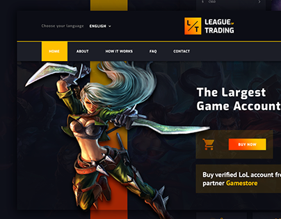 "Redesign Site ""League of Trading"""