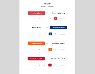Hockey Playoff Predictions Concept
