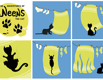 Cartoon strip - The Adventures of Neens the Cat