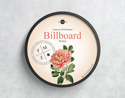 Free Round Billboard Mockup