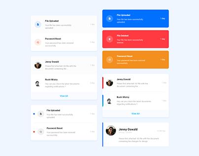 Notification UI concept design