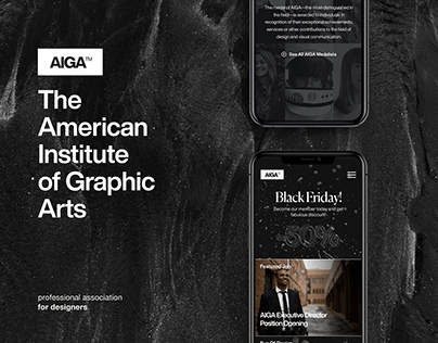 AIGA - Rebranding & UX/UI Redesign