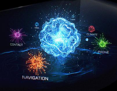INFINITI Holographic Automotive UI Design