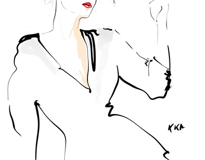 Fashion illustration november