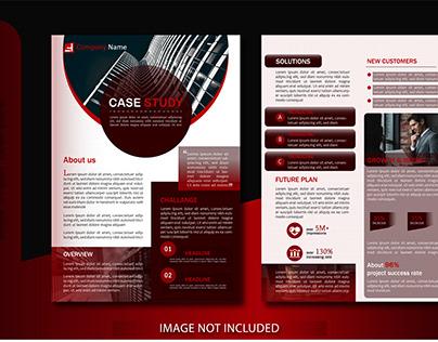 Case study business brochure template