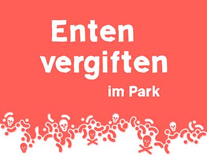 Enten vergiften im Park