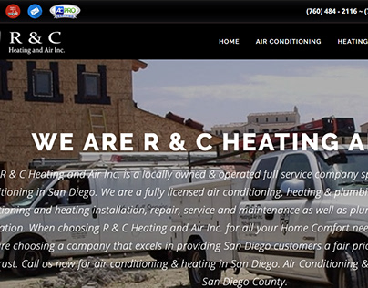 R & C Heating and Air Website and print advertisement