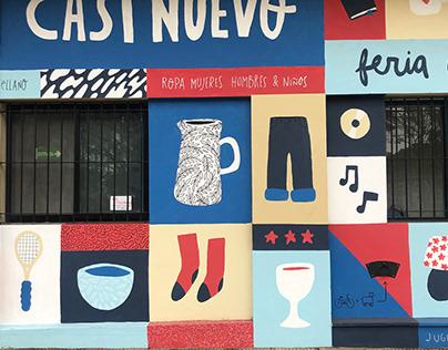 thrift shop mural