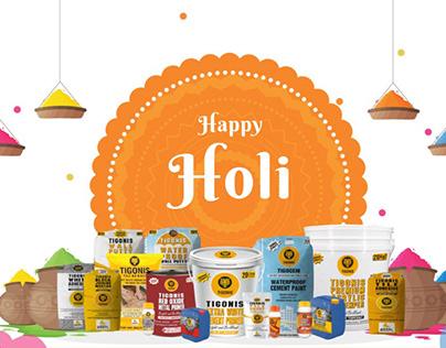 HAPPY HOLI MOTION GRAPHIC ANIMATION DESIGN