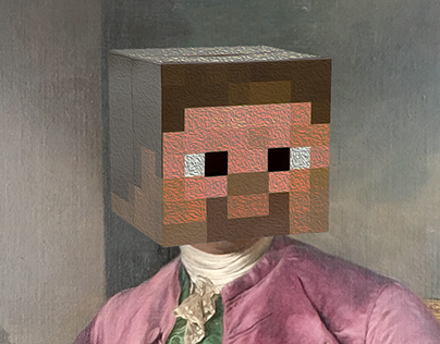 Classic Art with a pixalated twist