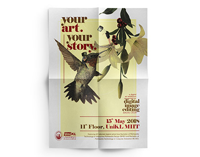 Your Art. Your Story. 2018 Exhibition Poster
