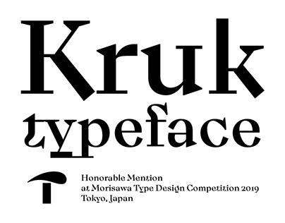 DR Kruk typeface