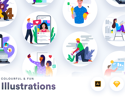 Colourful & Fun Illustrations
