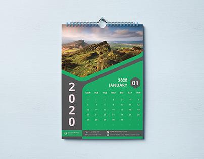Wall Calendar Template 2020