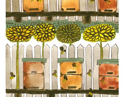 Bee Hives Garden
