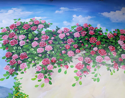 Vẽ tranh tường thủ công