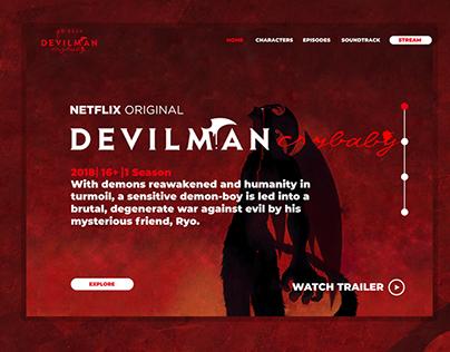 Devilman Crybaby Web Concept