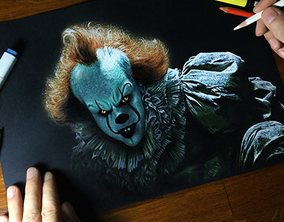 Drawing Pennywise 😱 Does IT scare you?? 🤡🎈