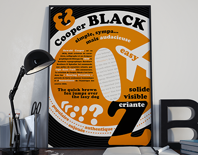 Typographic poster of the Cooper Black font