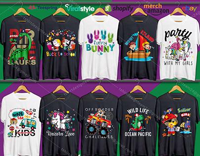 Kids T-Shirt Design Bundle