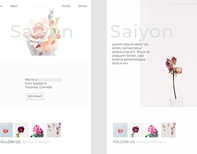Floral Design Website