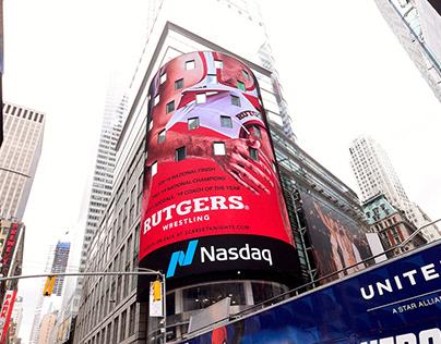 Rutgers Wrestling - Times Square Billboard