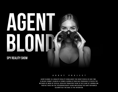 Agent Blonde - web site