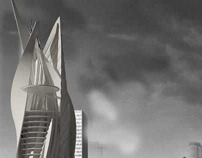 """""""Nile Tower"""" Academic project, three proposals.. ."""
