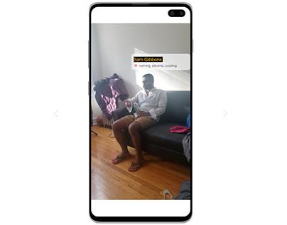 AR social profile card | XD daily challenge