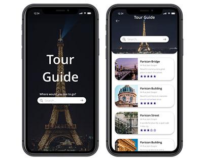Tourist app design (experimental project)