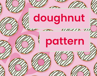 Doughnut Pattern - Poster Prints & Cards