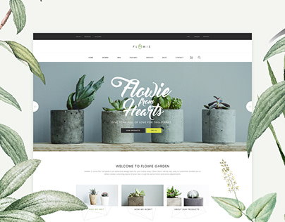Flowie - Delightful PSD Template for Home Decoration