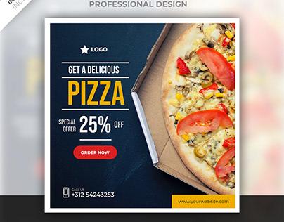 Pizza social media post