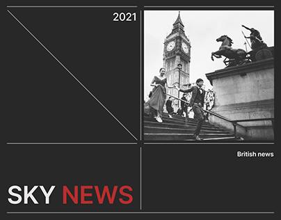 Sky News — news website redesign