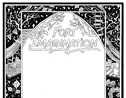 Book Cover Pattern Design: Fort Imagination