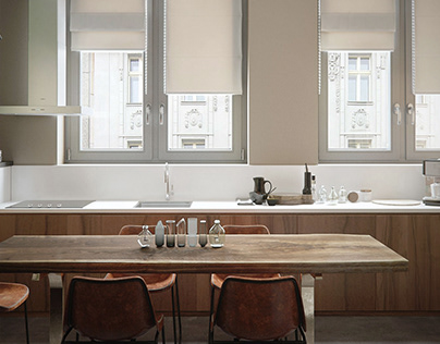 Kitchen in Dnepr. Loft Project House.