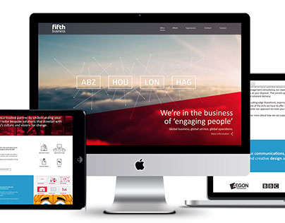 The Fifth Business website design