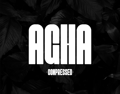 AGHA Compressed | Poster Font