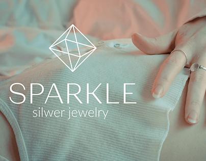 Brand Identity for SPARKLE silver jewelry brand