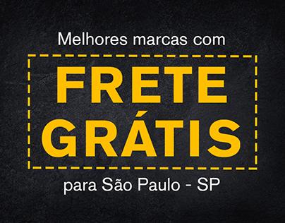 Frete Grátis Website Banner