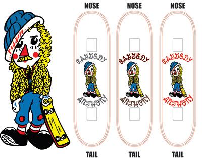 """""""Raggedy Anothony"""" (Ragdoll Fan Art Skateboard)"""