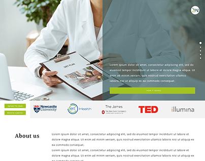 Nutrition Clinic Website Design