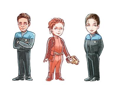 Star Trek DS9: Dr. Bashir, Kira, Dax