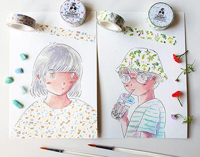 Washi Tape Illustration